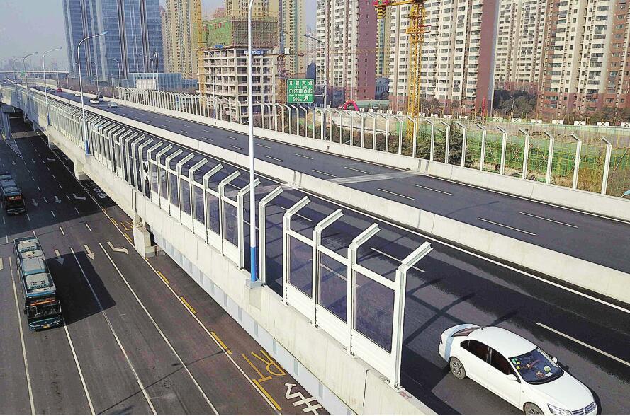 济南北园快速路西延高架开装隔音墙