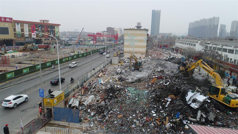 节后第一拆 临街房拆除让路轨道交通