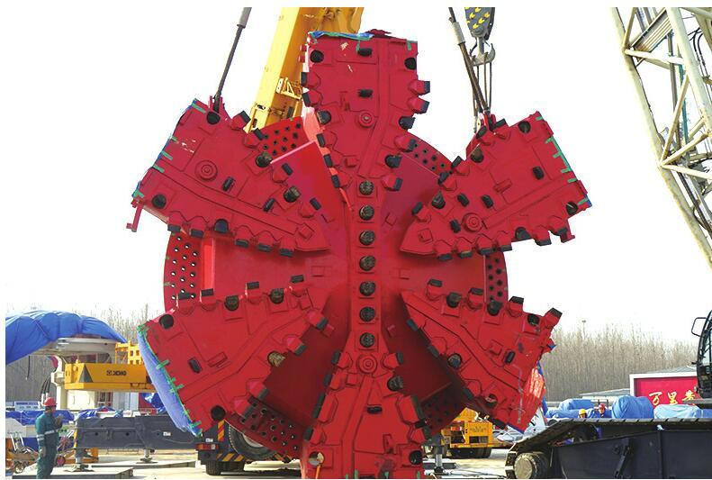 济南黄河隧道超大直径盾构机来了