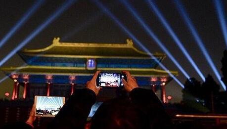 故宫灯光秀未取消 神武门18:00入场的一批观众仍可正常参观