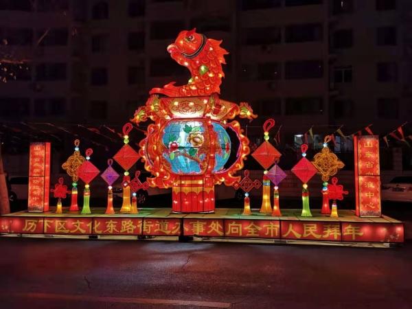 """文化东路街道三项措施打造""""元宵灯会一条街"""""""