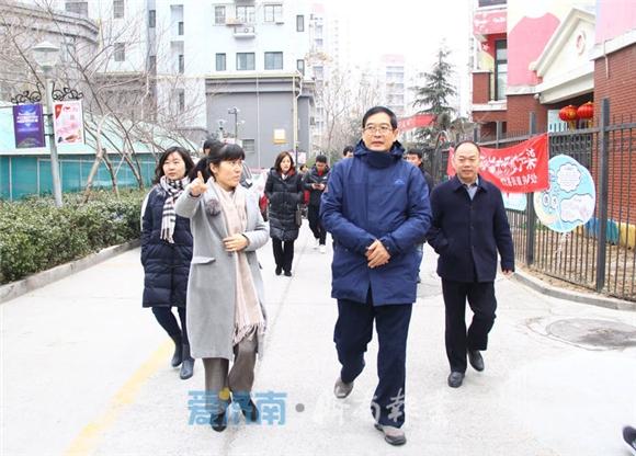 市文明办副主任苏庆勋到纬北路街道调研禁燃禁放宣传动员情况