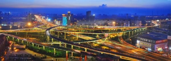 《北园立交桥夜景》
