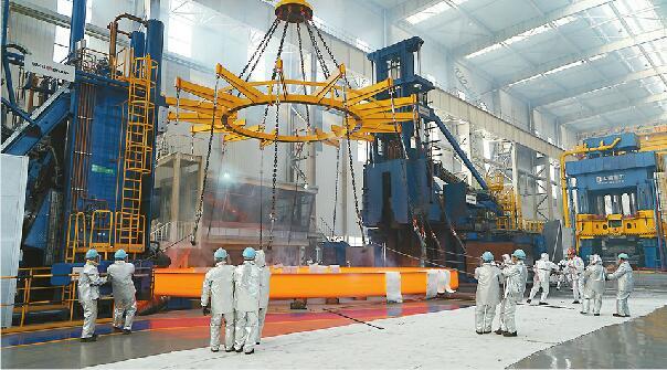 直径15.8米!世界最大锻件济南造 破多项世界纪录可承重7000吨
