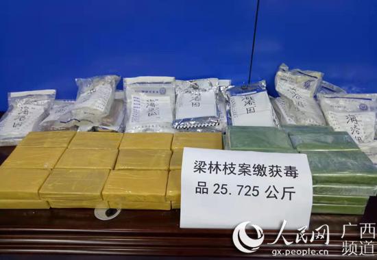 广西破获跨省毒品大案 缴获海洛因约26公斤