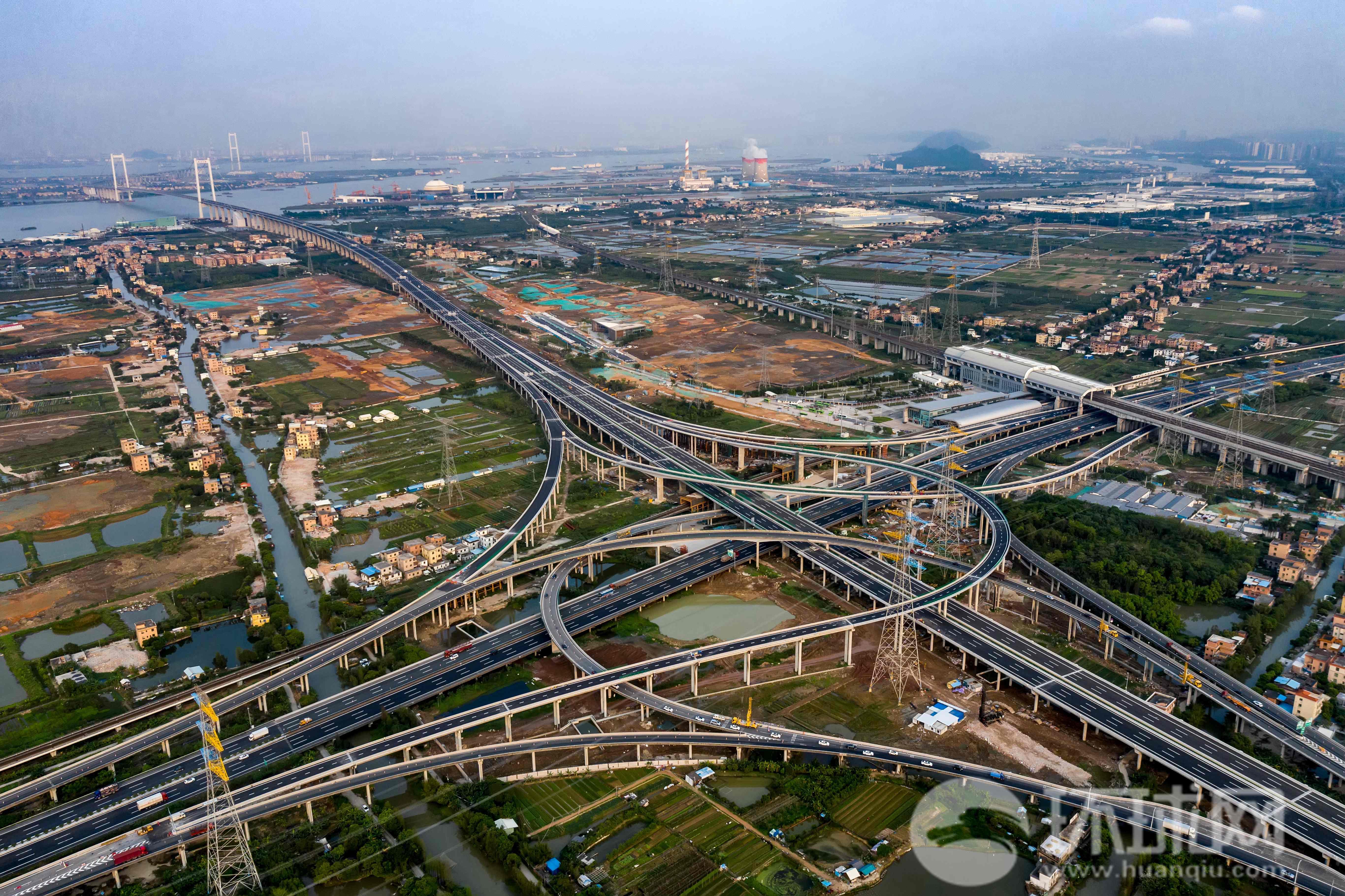 虎门二桥正式通车 为我国已建难度最高的钢箱梁悬索桥