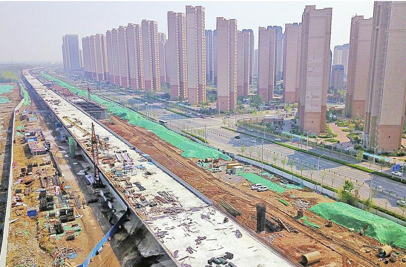 济青高速西岳高架显现雏形