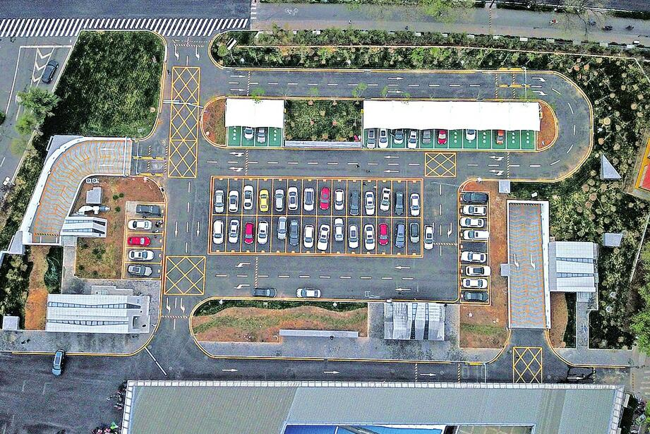 智能泊车存取便捷!全国最大智能停车场今日正式启用