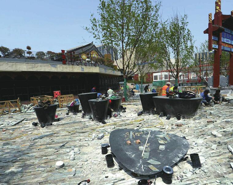 88百家乐现金网:网红街区打造清泉石上流 五一前改造将全部完工