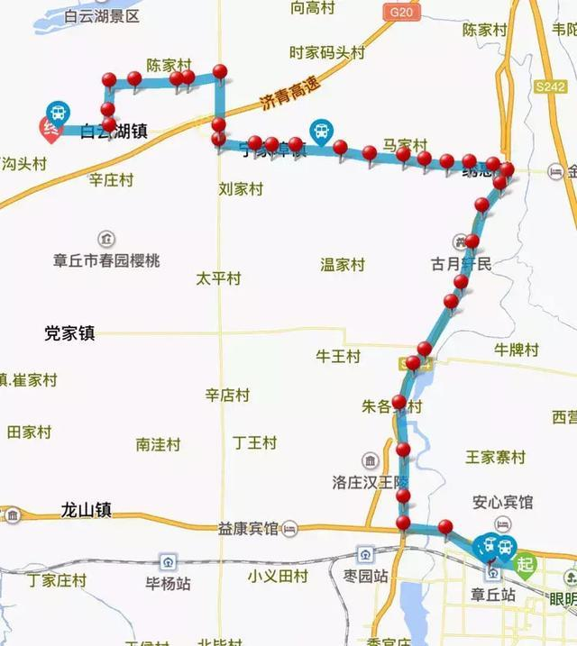 章丘高铁启用 公交线路看这里!