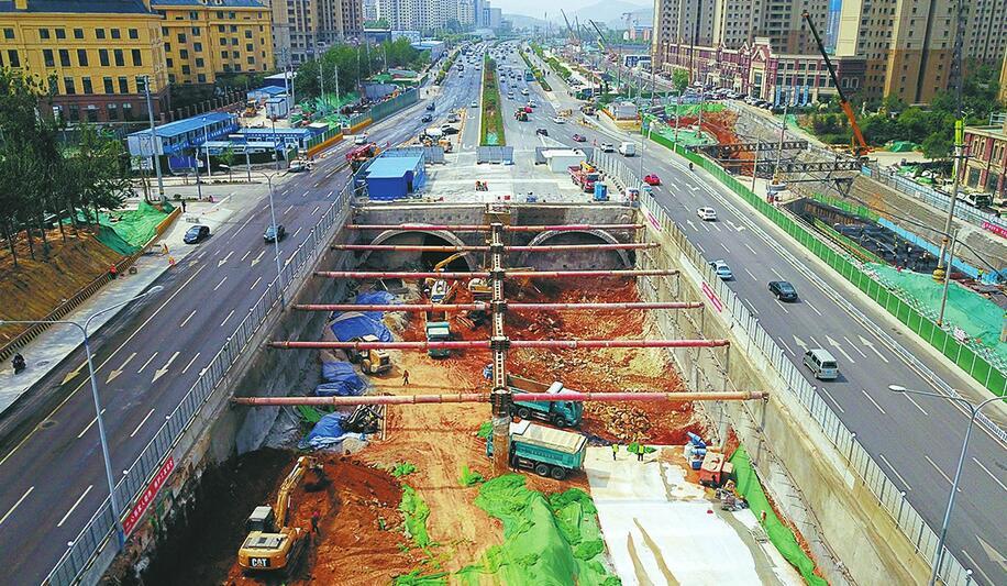 济南顺河南延隧道主洞施工 2020年8月底将实现全线通车