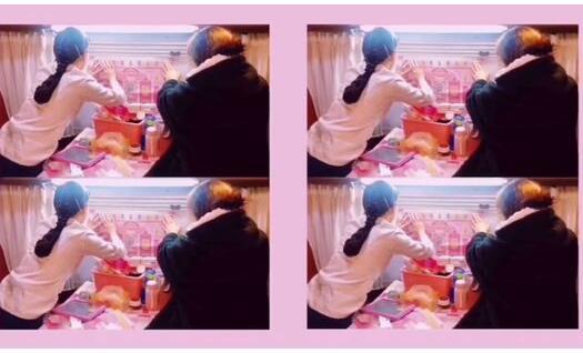 少女心满满!阚清子发短视频记录日常生活 热衷粉色贴纸