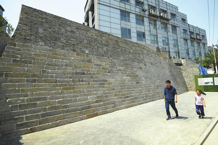 济南600年古城墙展新姿