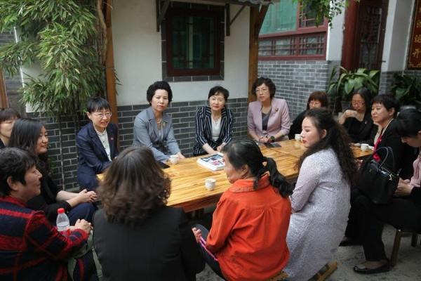 全国妇联到历下区调研基层妇联组织建设工作