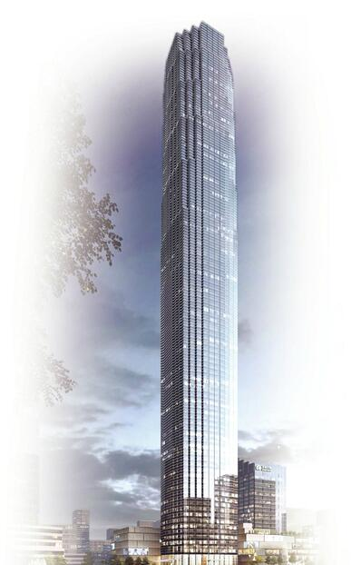 """山东""""第一高""""即将易主 济南428米超高层建筑拟明年主体竣工"""