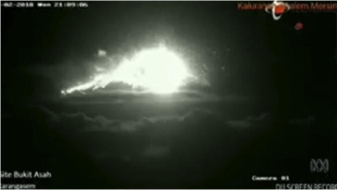 巴厘岛火山再喷发什么情况? 此次是阿贡火山5月以来第3次喷发