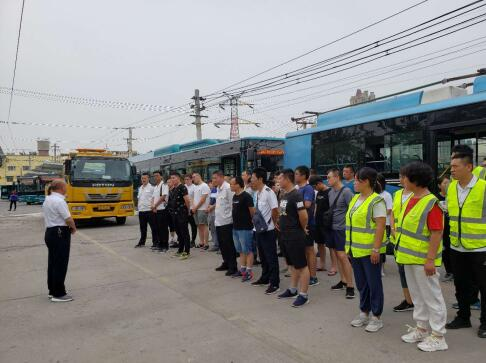 濟南公交精心演練,備戰汛期