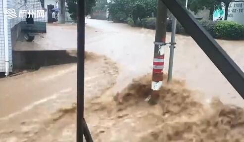暴雨来势汹汹!杭州桐庐山体滑坡预计桐庐县强降水仍持续