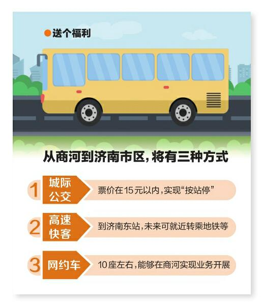 """商河—济南城际公交年内开通 票价15元以内""""按站停"""""""