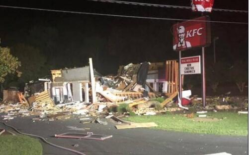 一片废墟!肯德基发生大爆炸 餐厅残骸照曝光!爆炸震动了附近的房屋