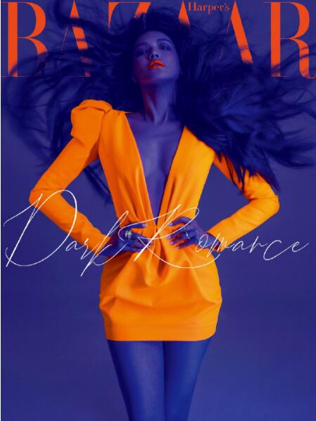 你get到她的美了吗?舒淇登杂志封面 荧光橙深V造型奇葩