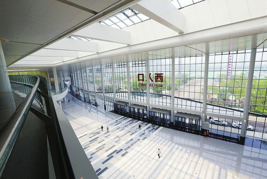 """济南西部国际会展中心掀起""""盖头""""来"""