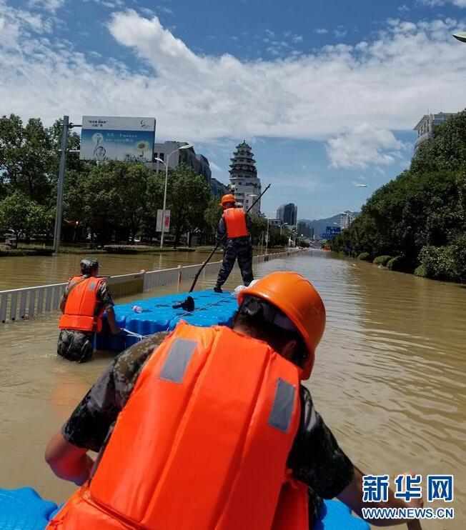 浙江临海:各方全力抢险救灾