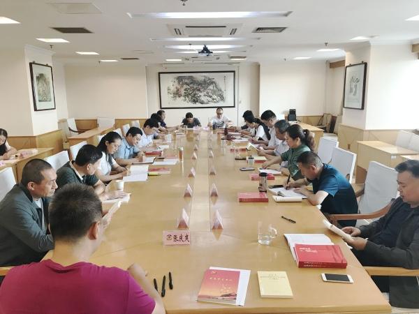 曹辛同志参加区政协机关党总支理论学习