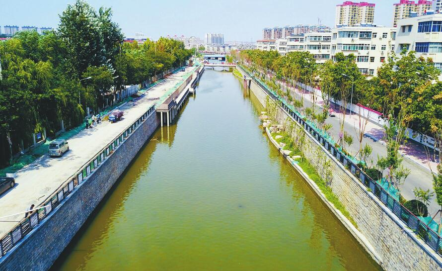 生态综合治理即将完工 兴济河新景观初显