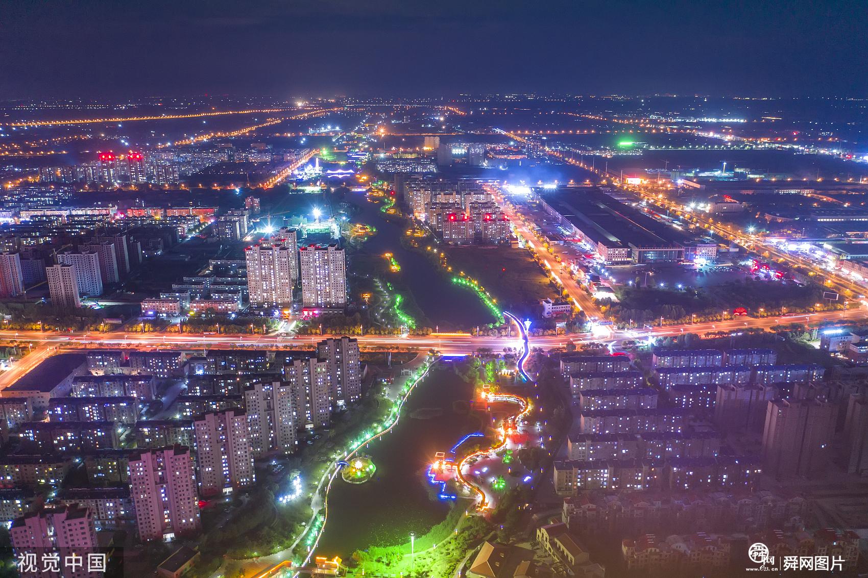 山东滨州:夏末夜色残暴