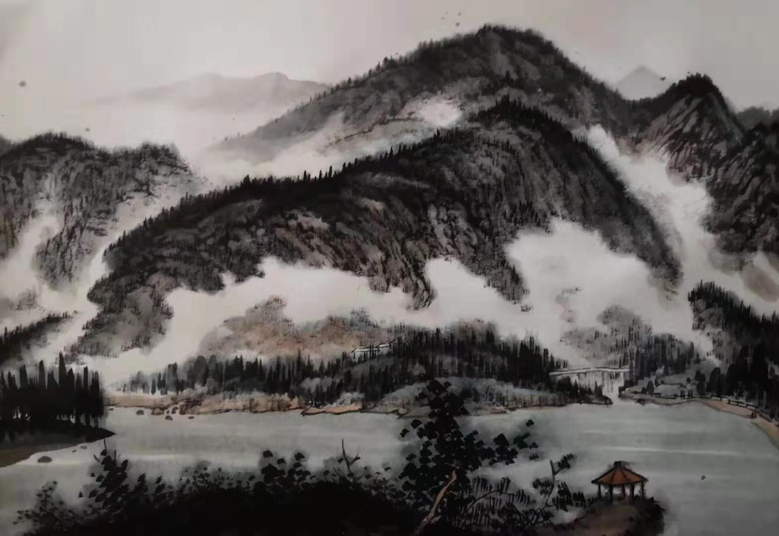 雪野湖印象——杨枫写生系列作品