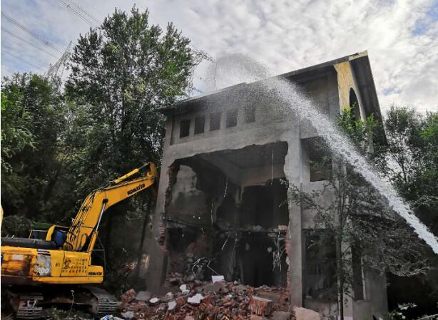 保护水源地!南山西营二级水源地保护区5栋别墅开拆