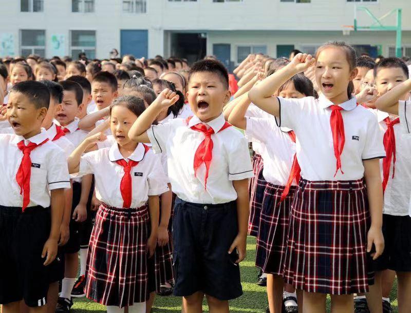 用宣誓向祖国告白 以科技燃爱国热情——山东省实验小学举行新学年开学典礼