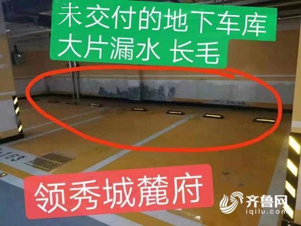 @济南鲁能领秀城麓府回填土大面积沉降、地下车库渗漏,业主堪忧