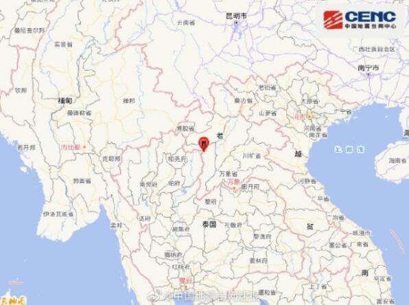 老挝连发两次地震 最高震级6级