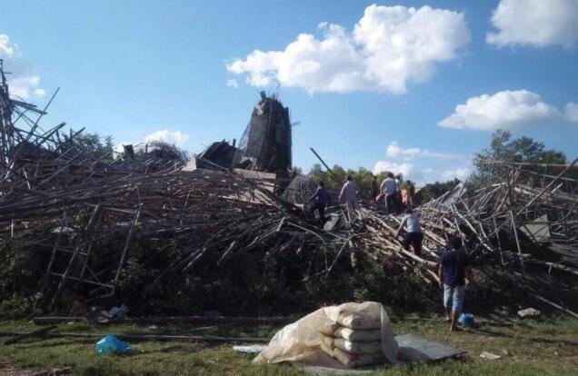 就在刚刚!柬埔寨一寺庙坍塌 具体情况如何?坍塌原因未定
