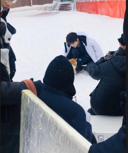 网友滑雪场偶遇王俊凯拍摄 网友:张保庆是你吗?