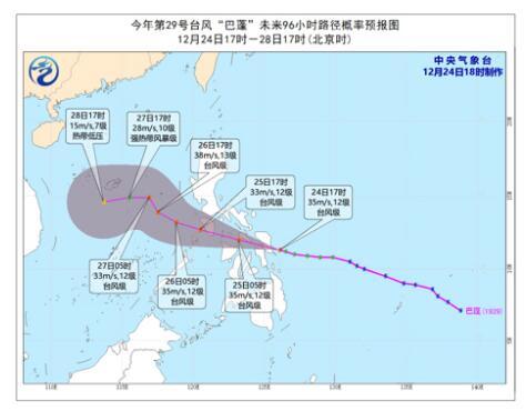 臺風來了臺風巴蓬移入南海臺風旅途及時宣布體例最新消