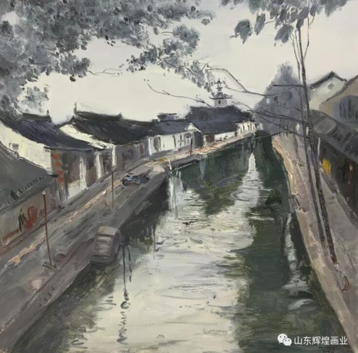 """""""长烟引素,水如蓝染"""":刘明亮、翟海滨2020'小幅油画作品展"""