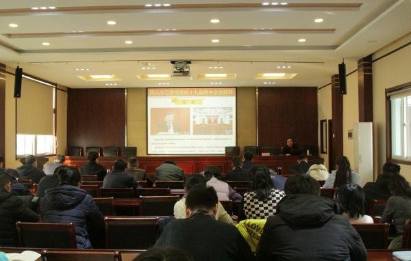 区委宣讲团到北坦街道宣讲党的十九届四中全会精神