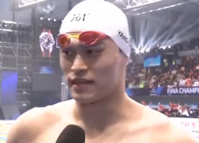 孙杨2020年首秀获亚军!以0.03秒之差惜败立陶宛选手拉普赛斯