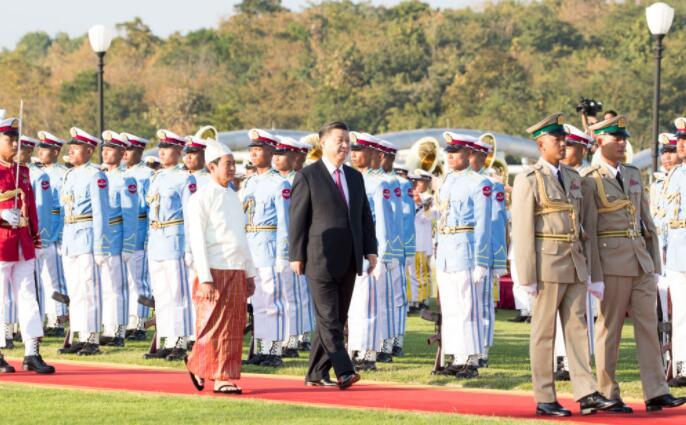 高清大圖|習主席新年首訪 緬甸最高規格迎接!