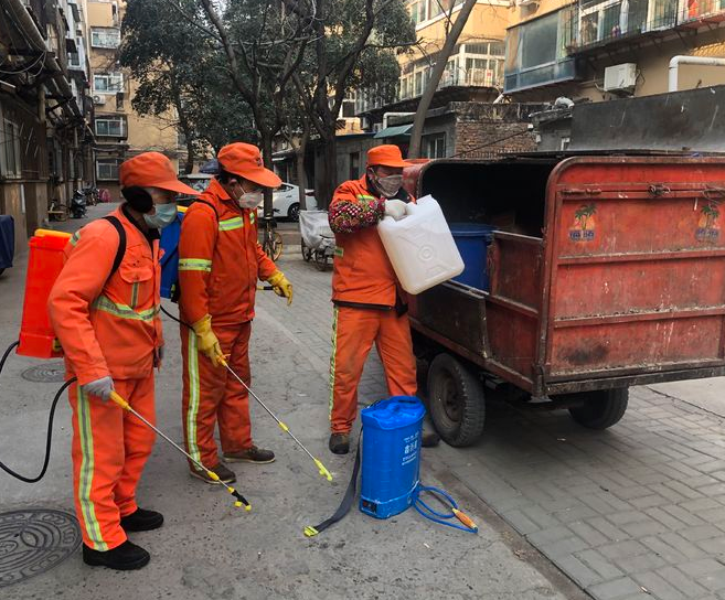 制锦市街道全面开展消杀防传染工作