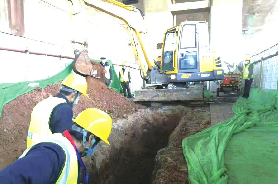 现代无轨电车项目已开挖