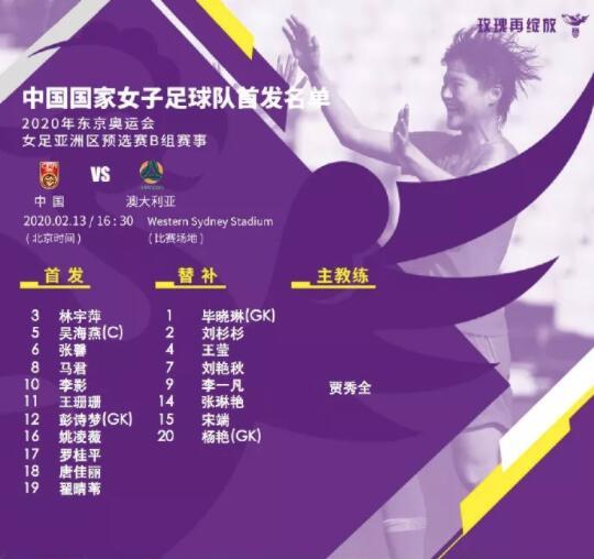 中国女足1:1惜平澳大利亚 奥运附加赛将对韩国队