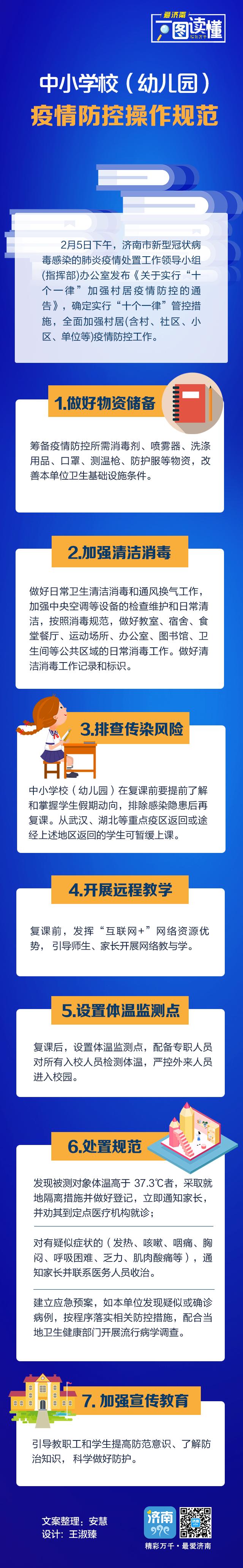 济南市规范八类场所(人群)疫情防控操作规范丨中小学(幼儿园)篇