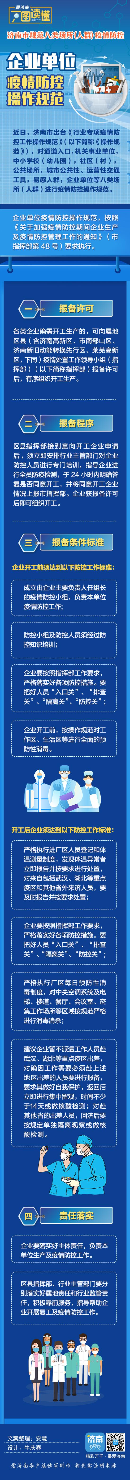 济南市规范八类场所(人群)疫情防控操作规范丨企业单位篇