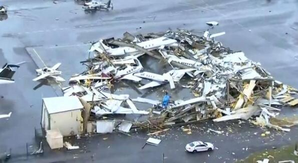 龙卷风袭击美国 这次龙卷风严重吗?纳什维尔地区机场被毁