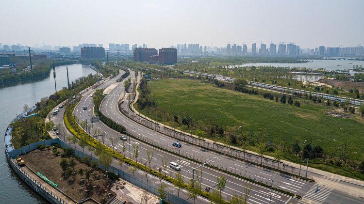 华山街道:焕然一新 清河北路美景再升级
