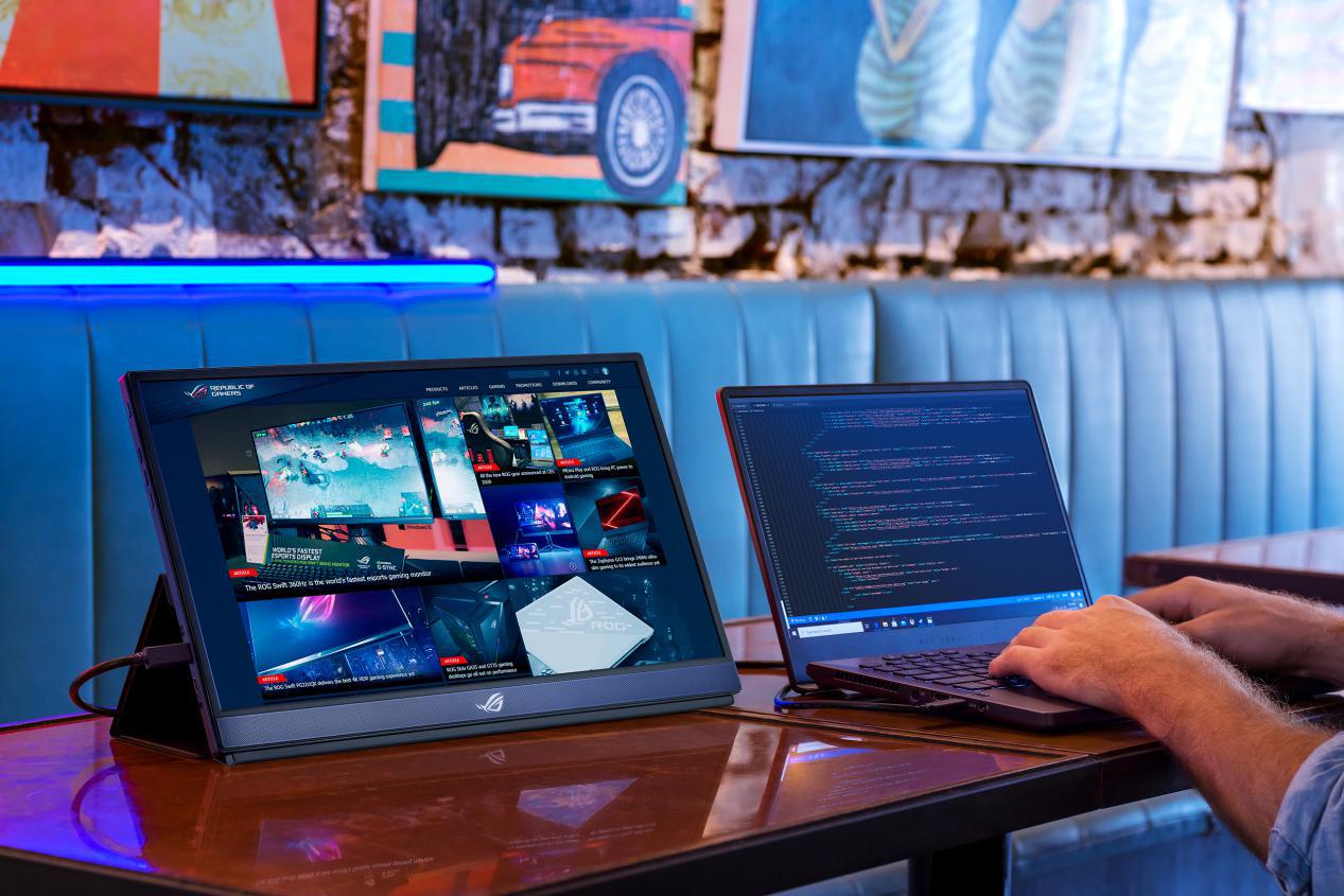 轻巧随行尽享极速,华硕XG17AHP便携电竞显示器618震撼预售!